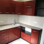 Бордовая мебель для кухни Луганск