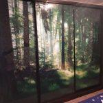 Шкаф рисунок лес
