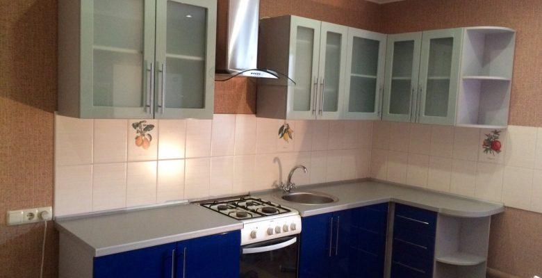 Синяя угловая кухня ЛНР