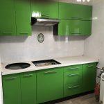 Зеленая кухня сборка