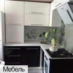 Кухня белая мебель ЛНР