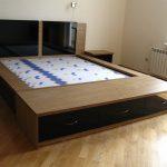 Кровать с черными вставками ЛНР