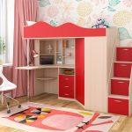 Красная мебель для детской