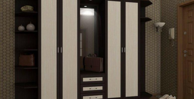 Шкаф со вставками черно белый