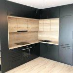 Кухня темная в стиле модерн